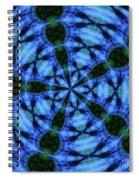 10716 Summer Fire Mask 54 Kaleidoscope 5 Spiral Notebook