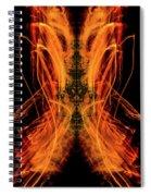 10658 Summer Fire Mask 58 - Dance Of The Fire Queen Spiral Notebook