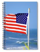 Summer Flag Spiral Notebook