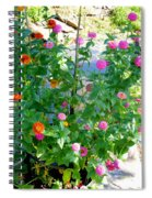 Summer Flowers 13 Spiral Notebook