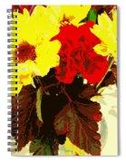Summer Flowers Yellow Daisies Spiral Notebook
