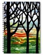Summer Forest Abstract  Spiral Notebook