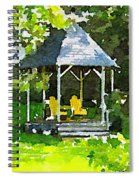 Summer Gazebo With Yellow Chairs Spiral Notebook