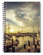 Summer Harbor Sunset Spiral Notebook