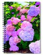 Summer Hydrangeas #2 Spiral Notebook