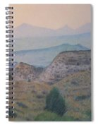 Summer In The Badlands Spiral Notebook