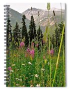 Summer In The Mountains Spiral Notebook