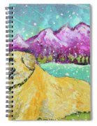 Summer In The Mountains With Summer Snow Spiral Notebook