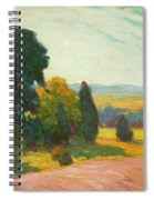 Summer Landscape By John William Beatty Spiral Notebook
