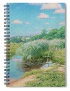 Summer Landscape With Children Spiral Notebook