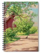 Summer Landscape With Hens Spiral Notebook