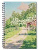 Summer Landscape With House Spiral Notebook