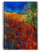 Summer Landscape With Poppies  Spiral Notebook