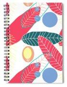 Summer Leaf In Pink  Spiral Notebook