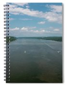 Summer Morning View Over The Hudson Spiral Notebook