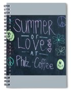 Summer Of Love At Philz Coffee Spiral Notebook