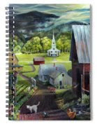 Summer On The Back Road In Vermont Spiral Notebook