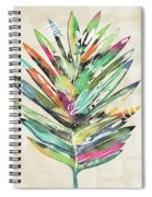 Summer Palm Leaf- Art By Linda Woods Spiral Notebook