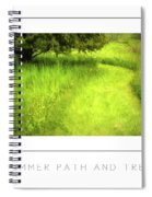 Summer Path And Tree Poster Spiral Notebook