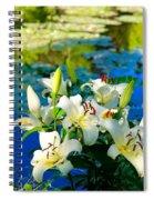 Summer Pond French Lilies Spiral Notebook