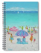 Summer Scene Diptych 1 Spiral Notebook