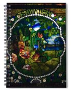 Summer Stained Glass Panel Spiral Notebook