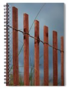 Summer Storm Beach Fence Spiral Notebook