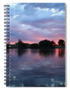 Summer Sunset On Yakima River 4 Spiral Notebook