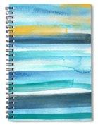 Summer Surf 2- Art By Linda Woods Spiral Notebook