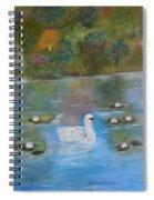 Summer Swan Spiral Notebook