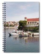 summer vacation scene Neos Marmaras Greece Spiral Notebook