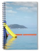 Summer Vacation Scene With Water Slide  Spiral Notebook