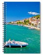 Summer View Of Tisno Coast Spiral Notebook