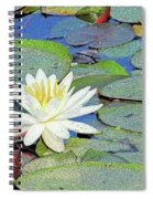 Summer Water Lily Spiral Notebook