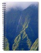 Summer Waterfall Behind Hanalei Bay Spiral Notebook
