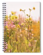 Summer Wildflower Field Of Sunflowers Spiral Notebook