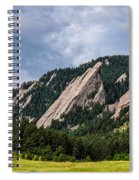 Summertime At The Flatirons Spiral Notebook