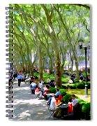 Summertime In Bryant Park Spiral Notebook
