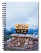 Summit Of Mount Evans Spiral Notebook