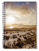 Sun Above Lake Argentino Spiral Notebook