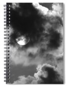 Sun And Clouds - Grayscale Spiral Notebook
