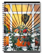 Sun And Hot Air Spiral Notebook