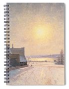 Sun And Snow Spiral Notebook