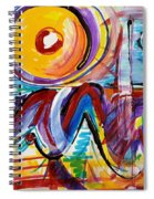 Sun And Waves Spiral Notebook