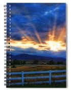 Sun Beams In The Sky At Sunset Spiral Notebook