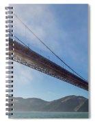 Sun Beams Through The Golden Gate Spiral Notebook