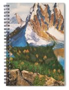 Sun Burst Peak Canada  Spiral Notebook