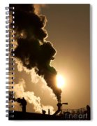 Sun Covered With Soot - Air Pollution Spiral Notebook