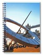 Sun Dial And Tower Bridge London Spiral Notebook