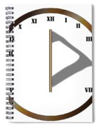 Sun Dial Face Spiral Notebook